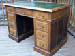 Pedestal desk AFTER restoration.  Click for a larger image